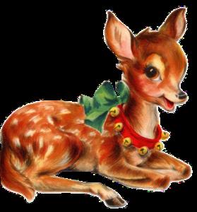 Vintage Christmas Deer PNG PNG Clip art