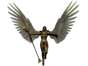 Warrior Angel Transparent Background PNG Clip art