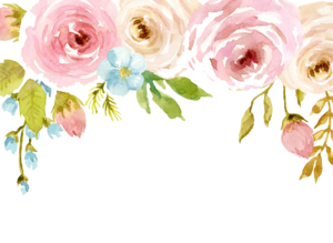 Watercolor Flowers PNG Background PNG Clip art