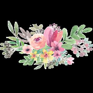 Watercolor Flowers PNG Transparent File PNG Clip art