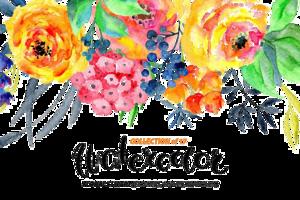 Watercolor Flowers PNG Transparent Image PNG Clip art