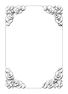 Wedding Invitation Border PNG File PNG Clip art