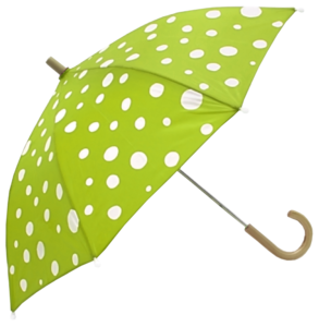 White Dotted Green Umbrella PNG PNG Clip art