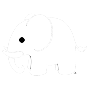 White Elephant Transparent Background PNG Clip art