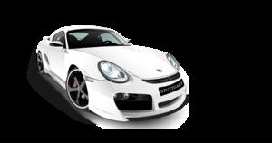 White Porsche PNG PNG Clip art