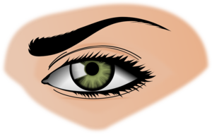 Woman Eyes Transparent Background PNG icon