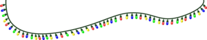 Xmas Lights Background PNG PNG Clip art
