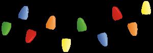 Xmas Lights Transparent Background PNG Clip art