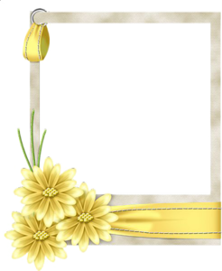 Yellow Border Frame PNG Free Download PNG Clip art