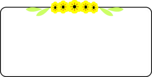 Yellow Border Frame PNG Image PNG Clip art