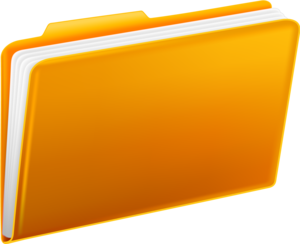 Yellow Folders PNG PNG clipart