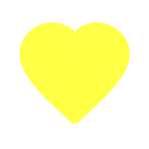 Yellow Heart PNG File PNG Clip art