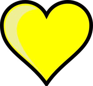 Yellow Heart PNG HD PNG Clip art