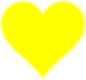 Yellow Heart Transparent Background PNG Clip art