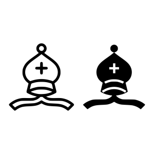 Black Bishop Chess Piece icon png