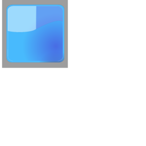 Aqua Blue Button (no Shadow) icon png