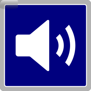 Blue Audio Icon icon png