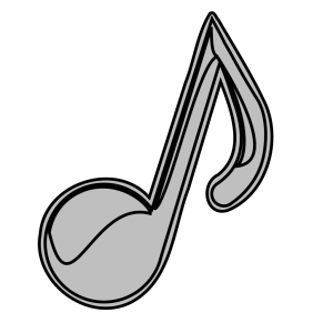 Blue Music Note icon png