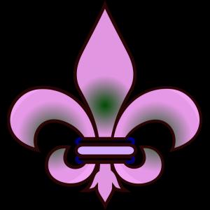 Fleur De Lis Taupe icon png