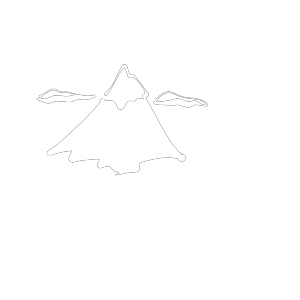 Black And White Mountain icon png