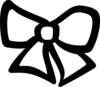 Simple Teddy Bear With Bow icon png