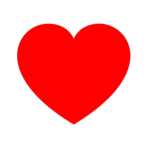 Red Heart icon png