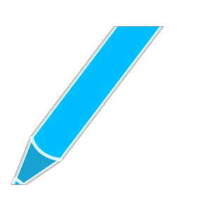 Blue Pencil icon png