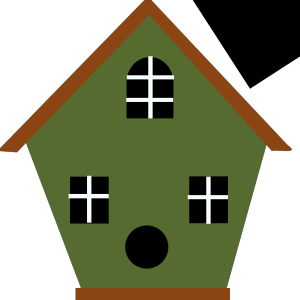 Green Bird House icon png