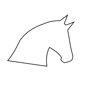 Horse Head Outline icon png