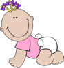 Baby Girl Sitting icon png