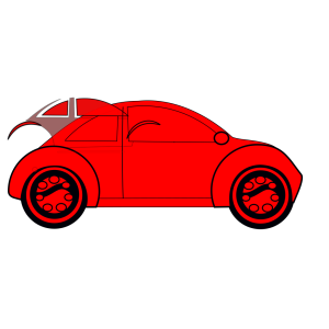 Red Car design