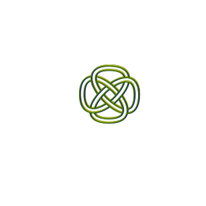 Blue Green Yellow Knot icon png