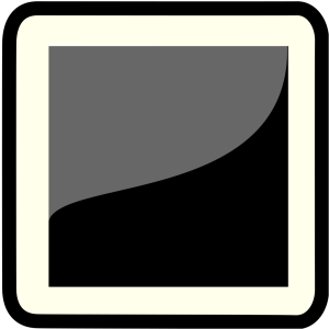Gray And Black Portrait icon png
