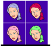 Woman With Pony Tail icon png