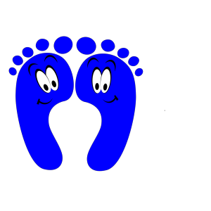 Blue Happy Feet icon png