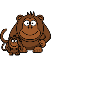 Cartoon Monkey Clip Art icon png