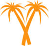 Palm Tree Curved Clip Art icon png