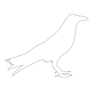Raven Outline