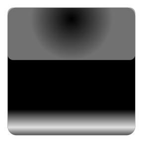 Mi Brami Square Black Crystal Button icon png