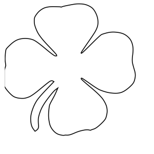 Four Leaf Clover Vector icon png