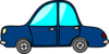 Blue Car3 icon png