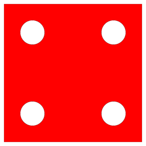 Red Die 4 icon png