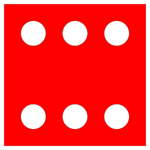 Red Die 6 icon png