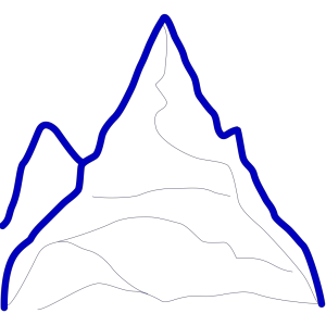 Mountain icon png