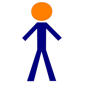 Orange Blue Person design