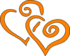 Red Curly Hearts icon png