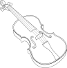 Brown Violin icon png