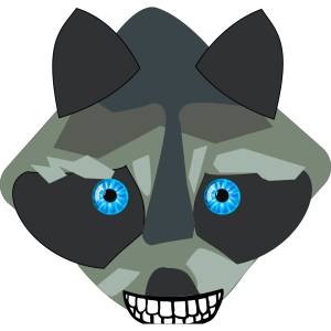 Raccon Closed Mouth icon png