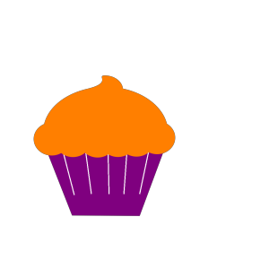 Cupcake Blue Flower icon png