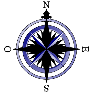 Compass Blue/brown icon png